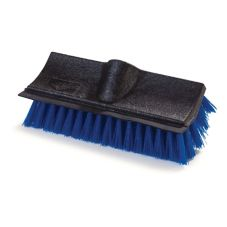 "Carlisle 3619014 10"" Blue Dual Surface Scrub Brush with Squeegee"