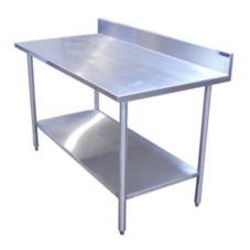 "Amtekco AWT396S5BSMCR S/S 30"" x 96"" Work Table with Backsplash"