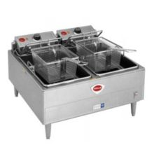 Wells Manufacturing Dual Pot Counter  Electric Unit Fryer