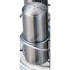 Service Ideas STC7 Stainless 7-Hole Salt / Pepper Shaker - 6 / CS