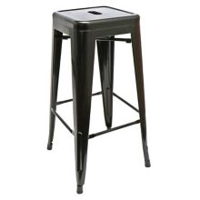 "National Metalwares 201607 Black 17"" x 30"" Backless Bar Stool"