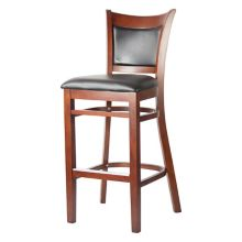 MKLD Commercial Furniture 6279BS-M Bar Stool with Black Seat and Back