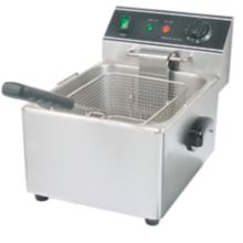 Restaurant Series S/S Electric Single Pot 15 Pound Countertop Fryer