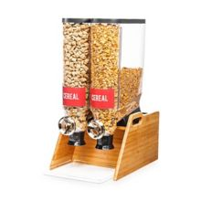 Rosseto DS103 Pro-Bulk Double Tabletop Dispenser with Bamboo Stand