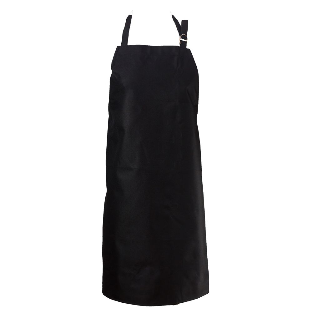 Chef Revival 601MAJ-BK Black Vinyl-Backed Waterproof Bib Apron