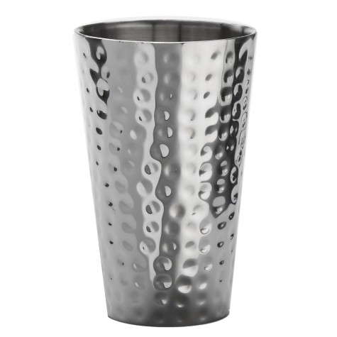American Metalcraft Hmts16 Mirror Finish 16 Ounce Hammered Tumbler