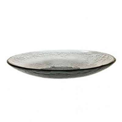 Arcoroc Gray Tiger Glass 9.63 Inch Coupe Plate