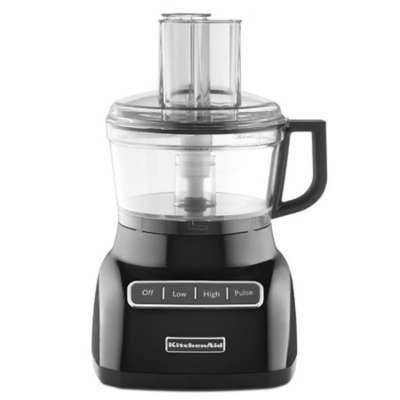 KitchenAid KFP0711OB Black 7 Cup Food Processor