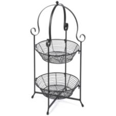 Skalny Baskets 824358 Black 2-Tier Zig-Wire Display Stand