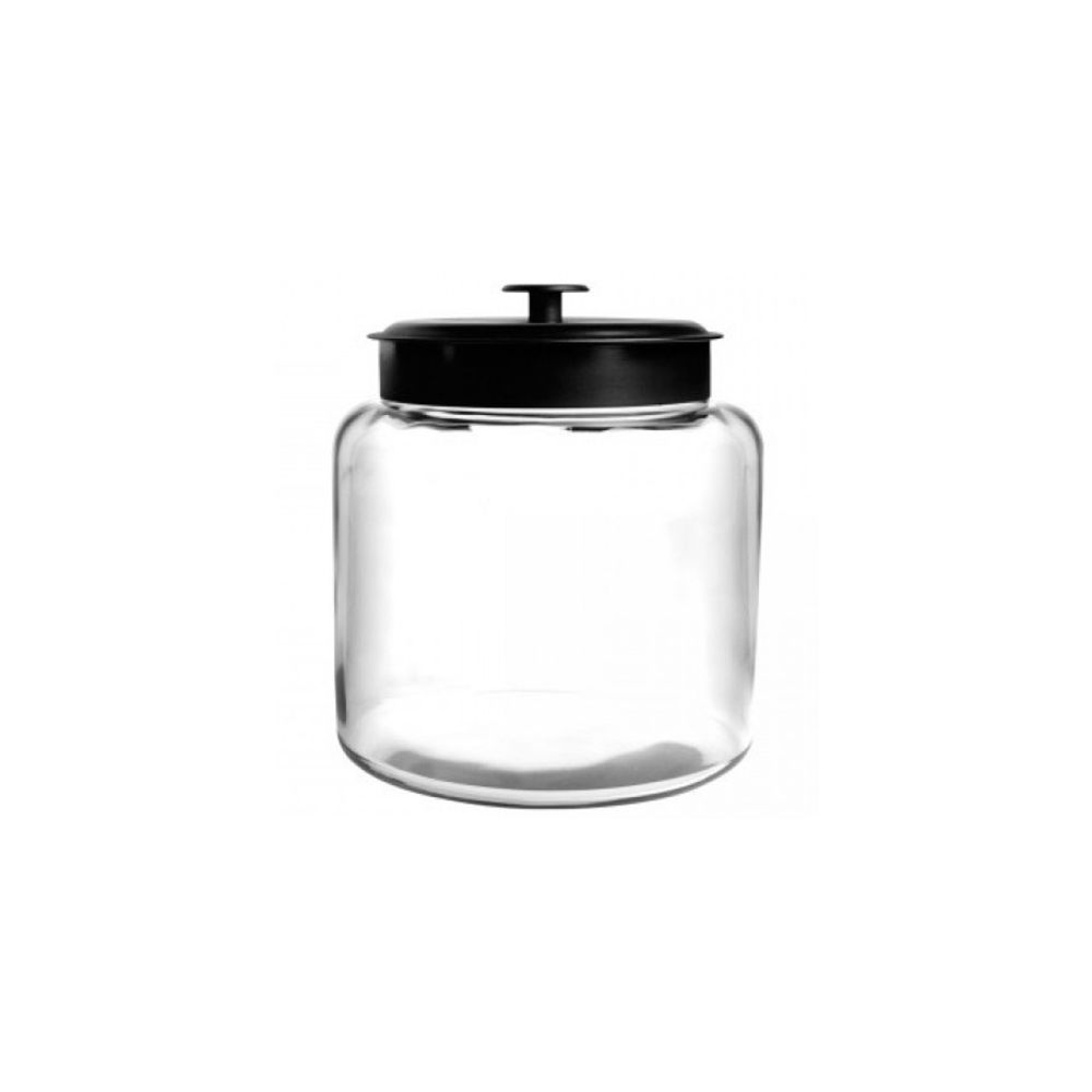 Anchor Hocking 96712AHG17 Black 96 Ounce Montana Jar - 2 / C