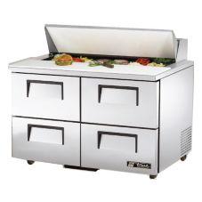 True® TSSU-48-12D-4 S/S 12 Cu Ft Salad / Sandwich Prep Table