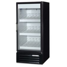 Beverage-Air LV10-1-B LumaVue Black Reach-In Refrigerated Merchandiser