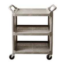 Rubbermaid® FG335588PLAT Platinum Enclosed End Utility Cart