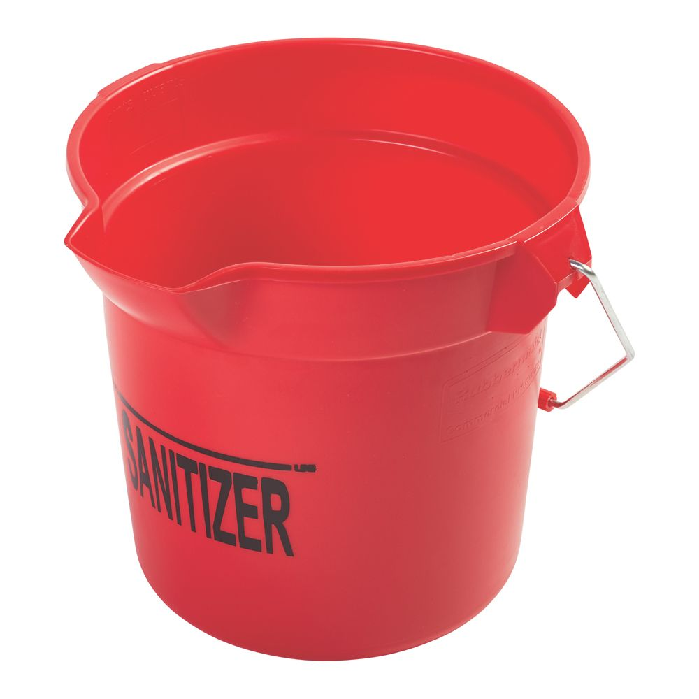 Rubbermaid 1834781 Red 2.5 Gallon Sanitizer Bucket