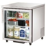True® TUC-27G-ADA 6.5 Cu Ft Glass Door Undercounter Refrigerator