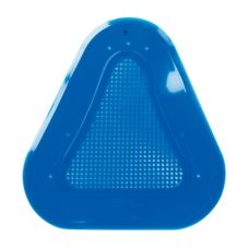 "Continental 160A Blue Vinyl Unscented 11"" Urinal Screen"