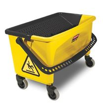 Rubbermaid® FGQ90088YEL HYGEN™ Yellow Press Wring Bucket