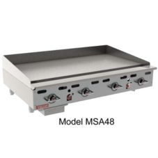"Vulcan Hart MSA72 HD 162,000 BTU Gas 72"" Griddle"
