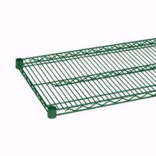"Thunder Group CMEP2448 Green Epoxy Coated 24"" x 48"" Wire Shelf"