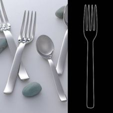 "Steelite 5308S072 Tura S/S 10-3/4"" Serving Fork - Dozen"