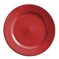 "World Tableware MB-8-R Montego Bay Red 9"" China Plate - 24 / CS"
