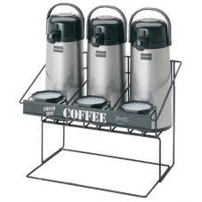 Bloomfield 3023-SRVRK3B Black Steel Airpot Serving Rack for 3 Pots