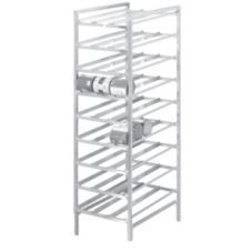 "Channel 9 Level Mobile Can Storage Rack, 76"" High"