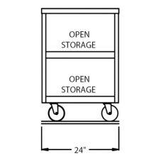 "Randell® RAN ST-2S RanServe 24"" Open Base S/S Worktop"