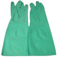 Tucker Safety Y8323L Green Large Unsupported Nitrile Gloves - Pair