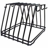 Adcraft® CBR-6BK 6 Slot Black Cutting Board Rack