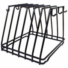 Adcraft® 6 Slot Black Cutting Board Rack