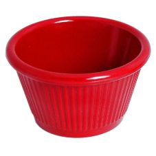 Gessner™ 0382AR Red Melamine 2 Oz. Fluted Ramekin - 72 / CS