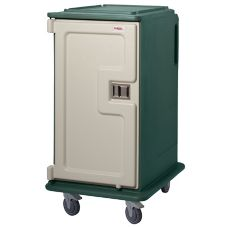 Cambro Granite Green Tall 2-Comp. Meal Delivery Cart for 14 x 18 Trays