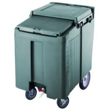 Cambro ICS125T192 Granite Green Portable 125 Lbs SlidingLid Ice Caddy
