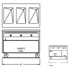 "Randell® RAN HTD-3B 48"" Heated Cabinet Base Hot Food Table"