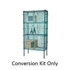 "Focus Foodservice FSEC246063GN 24 x 60 x 63""H Green Security Cage Kit"