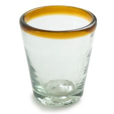 Tapered Amber Rim 3 oz Shot Glass