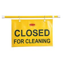 "Rubbermaid Yellow ""Closed for Cleaning"" Hanging Safety Sign"