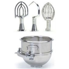 Globe Food Adaptor Kit for SP25 Mixer w/ Bowl, Whip, Hook &amp Beater