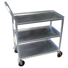 Win-Holt® UC-3-2149SS Open Base 3-Shelf Utility Cart with Casters
