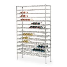 Metro WC258C Super Erecta Chrome 14 x 48 x 86-3/4 Cradle Wine Shelving