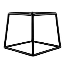 Elite Global Black Rubber Coated Steel Square Pedestal