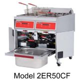 Vulcan Hart 4ER50DF Electric S/S Four Fryers w/ KleenScreen Plus®
