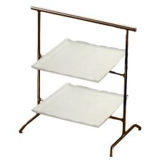 Dover Metals D375BRP Natural Bronze Coloma Stand With White Plates