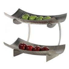 Buffet Euro STA99X2 Stahl S/S 2 Level Stand w/ Laser Cut Basin Basket