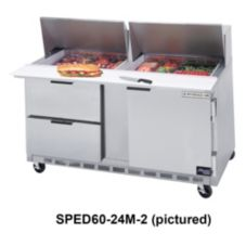 Beverage-Air SPED60-24M-4 Elite Refrigerated Mega Top with 4 Drawers