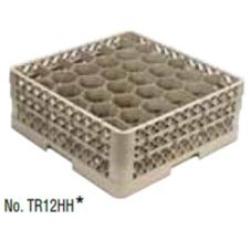 Traex TR13HHHH Beige 30 Compart. Low Profile Glass Rack w/ 4 Extenders