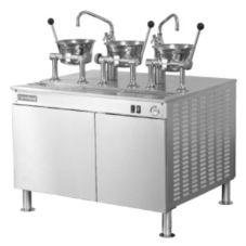 Cleveland Range 42-EM-K111-24 Electric Cabinet with (3) Oyster Kettles