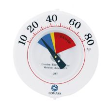 "Comark Cooler Wall Thermometer, 6"" Diameter"