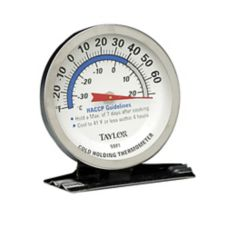 Taylor 5981N 5* Commercial 20 - 80°F Refrig / Freezer Thermometer